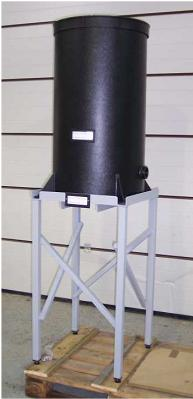 cylindrical plastic tank